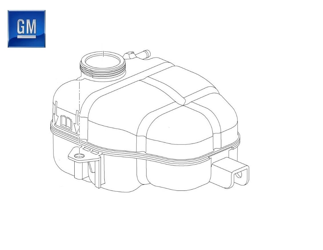 OEM VAUXHALL MERIVA B HEADER COOLANT EXPANSION RADIATOR TANK 39097904-NEW