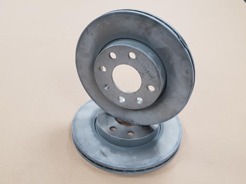 Brake Discs Set 240mm Vented Fits Vauxhall Corsa 1.7 DTI 16V Front Brake Pads