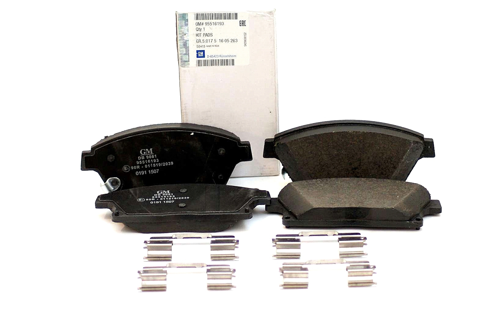 OPEL ASTRA J 1.4 Brake Pad Fitting Kit Front 2010 on B/&B Top Quality Replacement