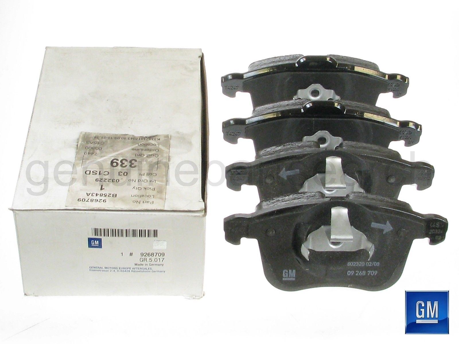 FRONT /&  REAR Brake Pads SAAB 93 OPEL VAUXHALL SIGNUM VECTRA C FITS 285MM
