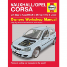 Vauxhall Vauxhall/Opel Corsa Petrol & Diesel - X to 06 Reg - Car Manual  5577A at Autovaux Genuine Vauxhall Suppliers
