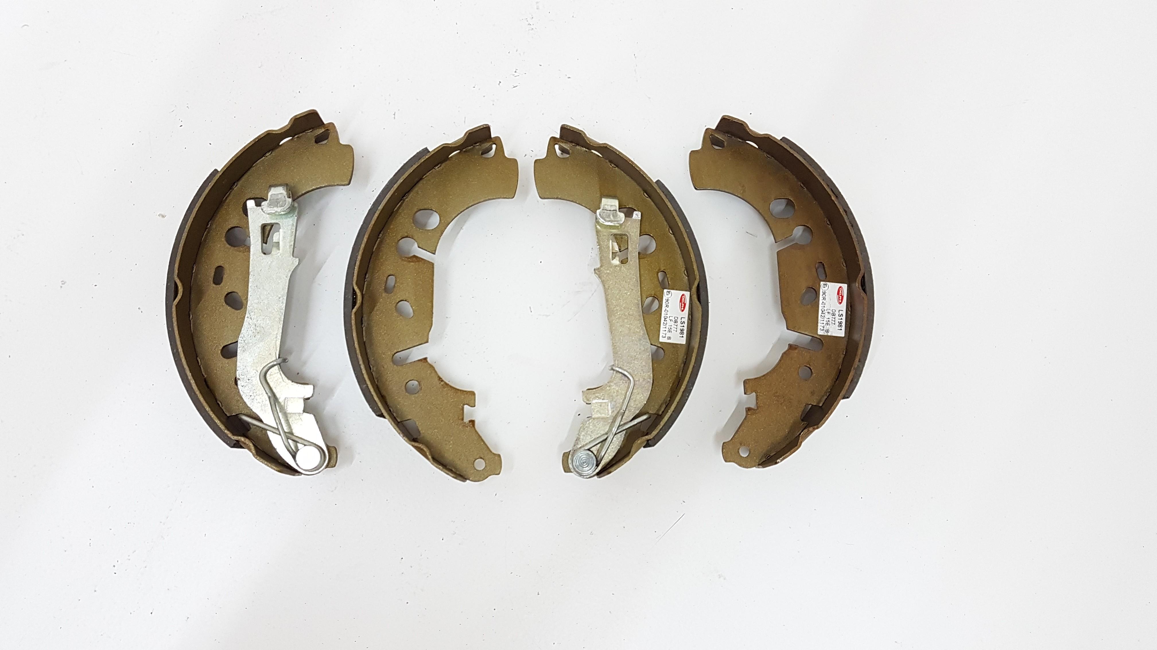 Rear Delphi Brake Shoes Full Axle Braking Set Fits Fiat Opel Vauxhall