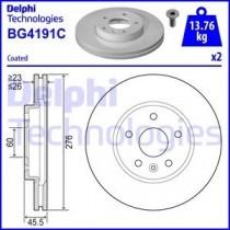 DELPHI BG4191C Front Brake Disc Set