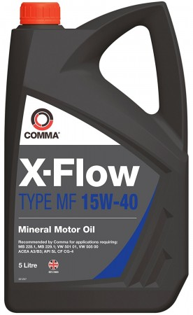 Comma XFMF5L X-Flow Type MF 15W40 Mineral Motor Oil 5 Litre