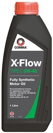 Comma XFG1L X-Flow Type G Fully Synthetic 5W40 Motor Oil 1 Litre