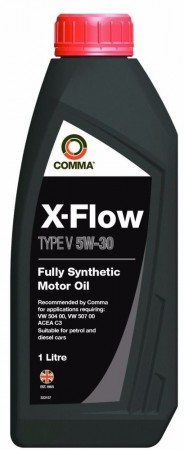 Comma XFV1L X-Flow Type V Fully Synthetic 5W30 Motor Oil 1 Litre for VW/Audi group diesel vehicles