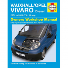 Vauxhall Vauxhall Opel Vivaro Diesel 2001 to 2011 - Car Manual  5552 at Autovaux Genuine Vauxhall Suppliers