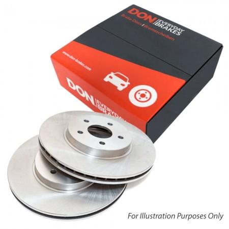 DON PCD10072 Rear 264mm Solid Brake Disc Set