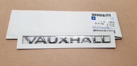 Genuine Vauxhall Vectra B Rear End Chrome Nameplate