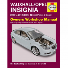 Vauxhall Vauxhall/Opel Insignia Petrol & Diesel 08 to 12 Reg - Car Manual 5563D at Autovaux Genuine Vauxhall Suppliers