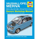 Vauxhall Vauxhall/Opel Meriva 03 - May 10 - Car Manual 4893A at Autovaux Genuine Vauxhall Suppliers