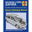 Vauxhall Vauxhall/Opel Zafira Petrol & Diesel March 2009-2014 (09-64) - Car Manual  6366A at Autovaux Genuine Vauxhall Suppliers