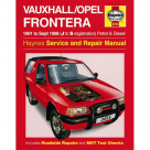 Vauxhall Vauxhall/Opel Frontera Petrol & Diesel (91 - Sept 98) J to S Reg - Car Manual  3454A at Autovaux Genuine Vauxhall Suppliers