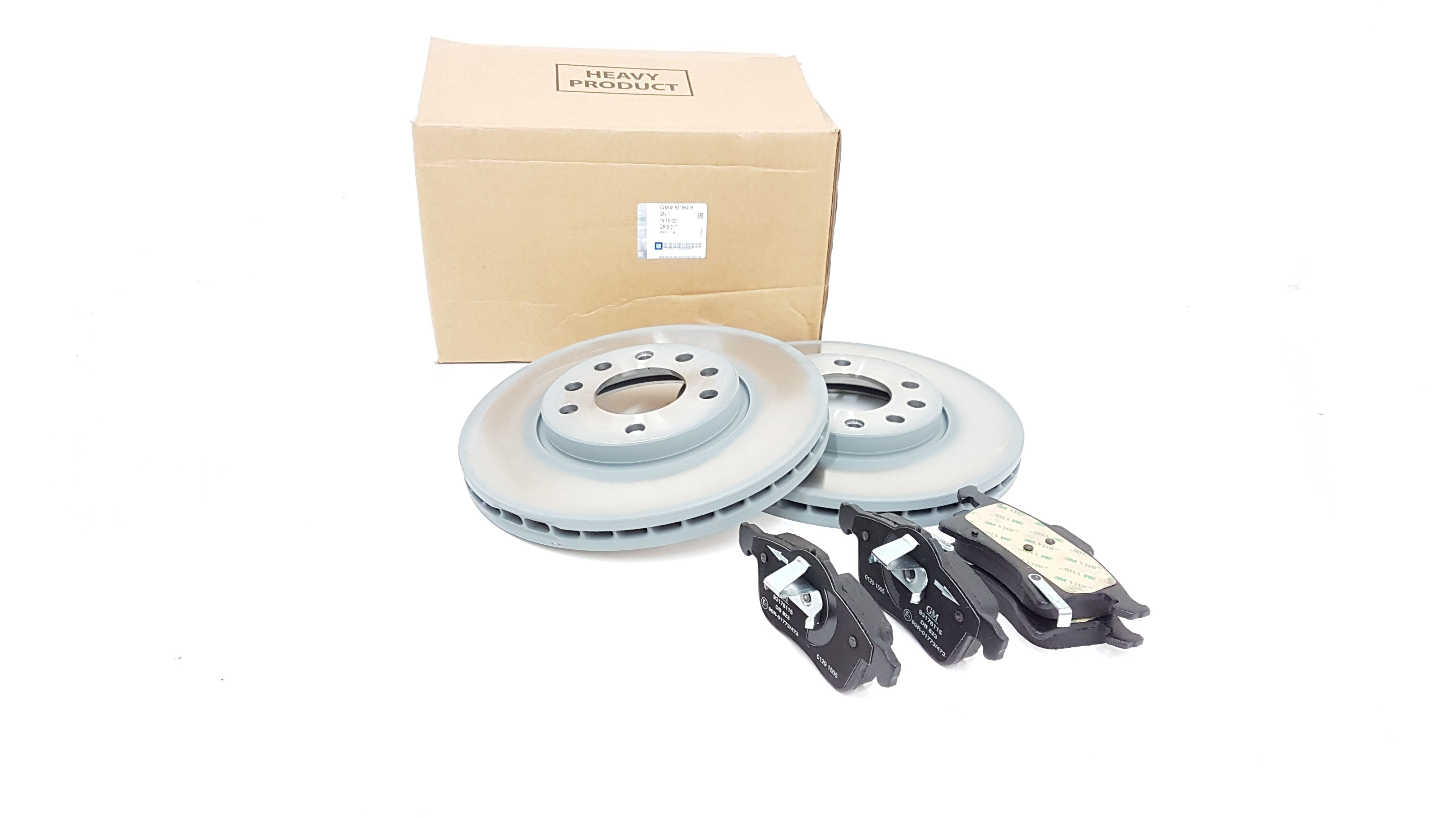 Genuine Delphi Coated Vauxhall Astra Meriva Zafira Front Discs and Pads Kit