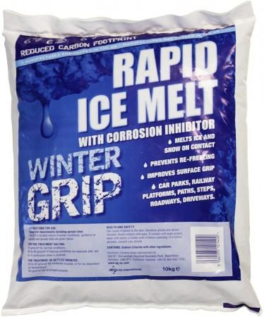 Rapid Ice Melt De Icer Salt 10Kg By Santander Salt