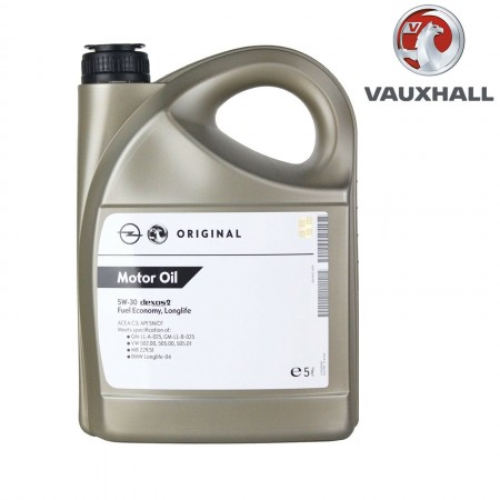 Genuine Vauxhall Dexos 2 Fully Synthetic 5W/30 Engine Oil 5 Litre