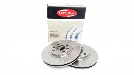 Delphi Front Plain Brake Disc (Pair)