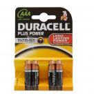 Vauxhall Duracell Plus AAA Alkaline Batteries - 4 Pack MN2400 at Autovaux Genuine Vauxhall Suppliers