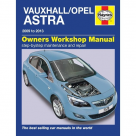 Vauxhall Vauxhall Astra Petrol & Diesel 2009 - 2013 - Car Manual  5578A at Autovaux Genuine Vauxhall Suppliers