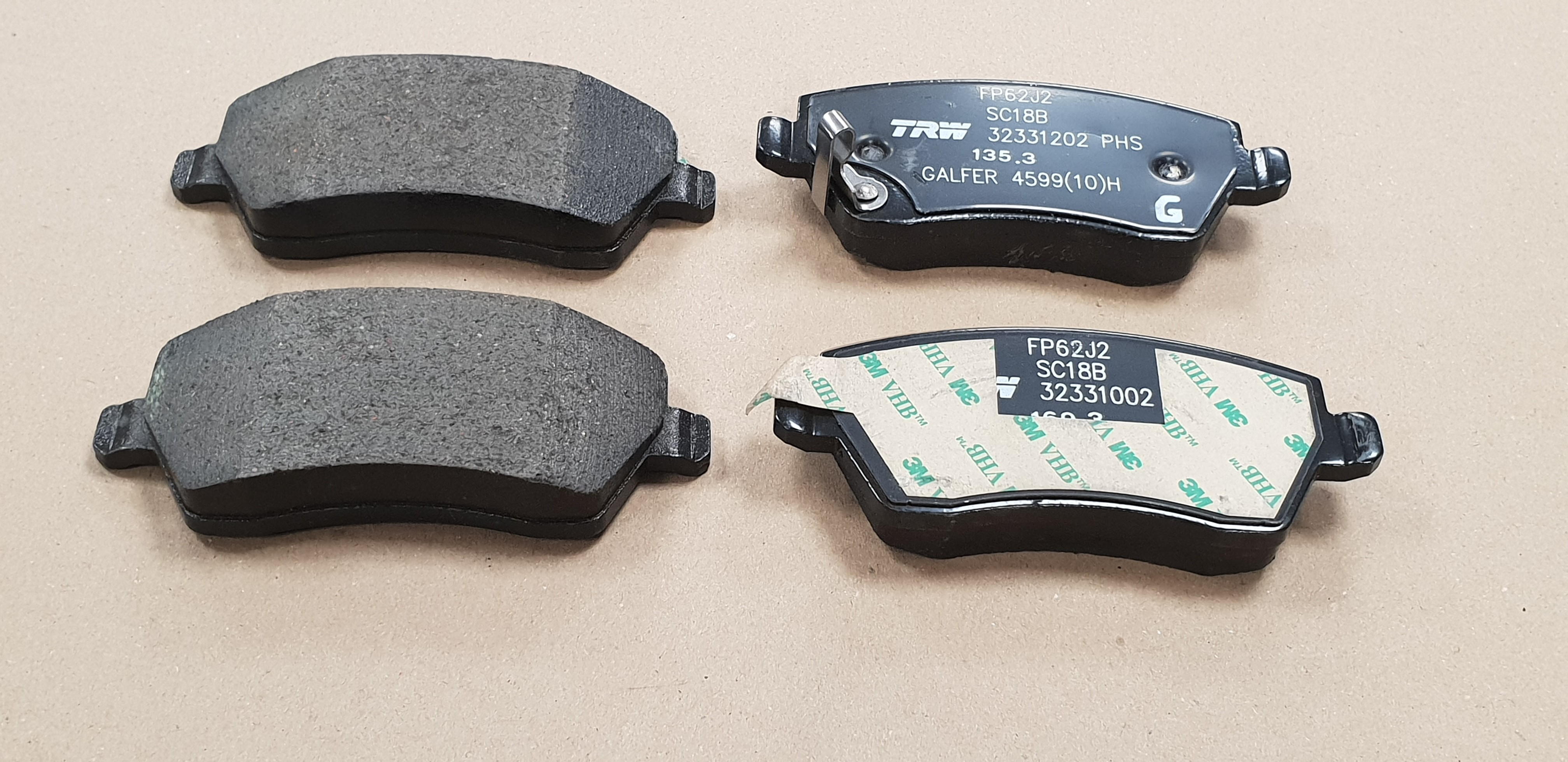 FRONT BRAKE PADS FIT VAUXHALL AGILA 08 SUZUKI SPLASH 08  SWIFT 05 VAUXHALL AGILA