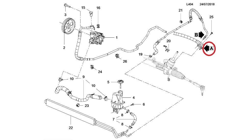 22855328 Power Steering Pipe 22855328 Genuine Vauxhall Part