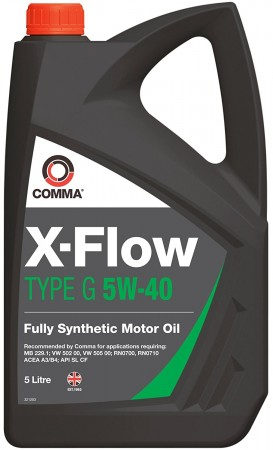 Comma XFG5L X-Flow Type G Fully Synthetic 5W40 Motor Oil 5 Litre For Ford