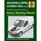 Vauxhall Vauxhall/Opel Combo Van Diesel Oct 2001 - Jan 2012 (51-61) - Car Manual  6362A at Autovaux Genuine Vauxhall Suppliers