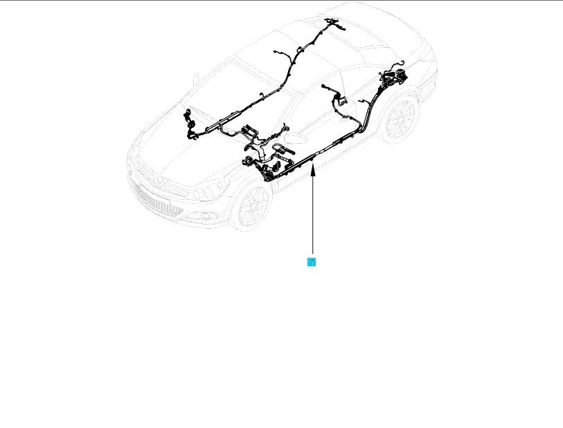 Genuine Vauxhall Astra H Convertible Wiring Harness on