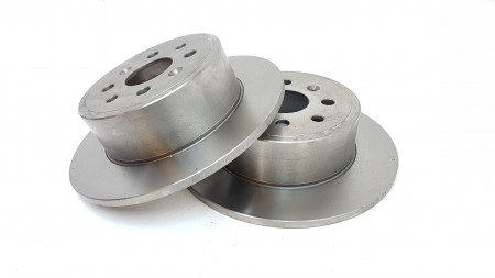 Delphi Rear Plain Brake Disc (Pair) Fsx2