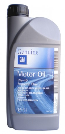 Genuine GM Supreme Plus 5W 40 Engine Oil 1 Litre