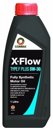 Comma XFFP1L X-Flow Type F Plus Fully Synthetic 5W30 Motor Oil 1 Litre For Ford