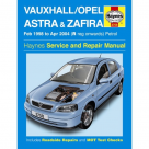 Vauxhall Vauxhall/Opel Astra & Zafira Petrol (Feb 98 - Apr 04) R to 04 Reg - Car Manual 3758A at Autovaux Genuine Vauxhall Suppliers