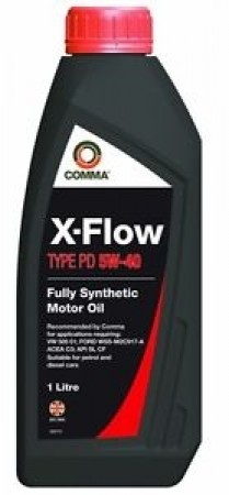 Comma XFPD1L X-Flow Type PD Fully Synthetic 5W40 Motor Oil 1Litre For VW/Audi Group Diesel Vehicles