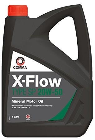 Comma XFSP4L X-Flow Type SP 20W50 Oil, 4 Litre for VW/Audi Group Diesel Vehicles